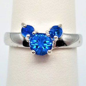 Disney Mickey Blue & Silver SZ 6 Ring